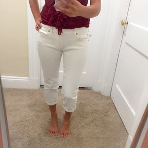 7 For All Mankind the Skinny Crop & Roll Jeans 25
